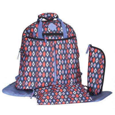 Freckles Backpack Blue Red Rombe