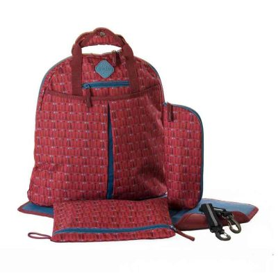 Freckles Backpack Triangle Dot Red