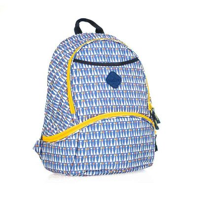 Freckles New Backpack Triangle Dot Blue